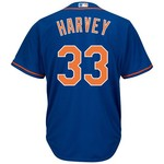 Majestic Men's New York Mets Matt Harvey #33 Cool Base® Alternate Jersey