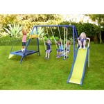 Sportspower Almansor Metal Swing, Slide and Trampoline Set - view number 4