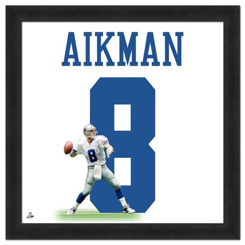 Photo File Dallas Cowboys Troy Aikman #8 UniFrame