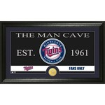 The Highland Mint Minnesota Twins Man Cave Bronze Coin Photo Mint