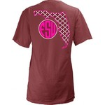 Three Squared Juniors' Florida State University Quatrefoil State Monogram T-shirt