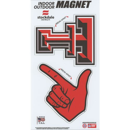 Stockdale Texas Tech University Logo Magnets Multipack