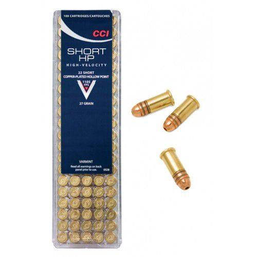 CCI® .22 27-Grain Short CPHP Rimfire Ammunition
