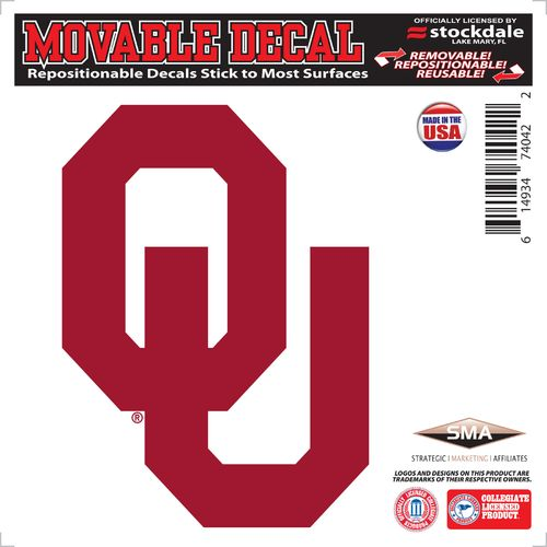 "Stockdale University of Oklahoma 6"" x 6"" Decal"