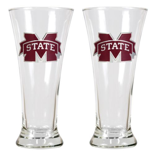 Great American Products Mississippi State University 19 oz. Pilsner Glasses 2-Pack