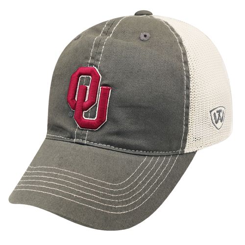 Top of the World Adults' University of Oklahoma Putty Cap - view number 1