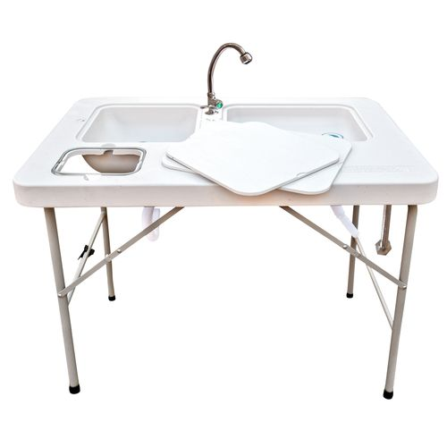 coldcreek outfitters ultimate fillet station with faucet - Folding Table And Chairs