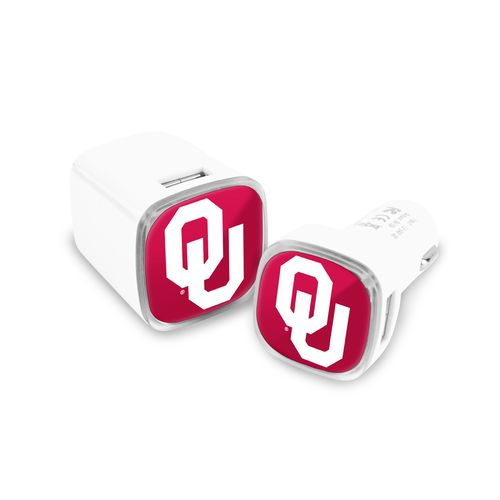 Mizco University of Oklahoma USB Chargers 2-Pack