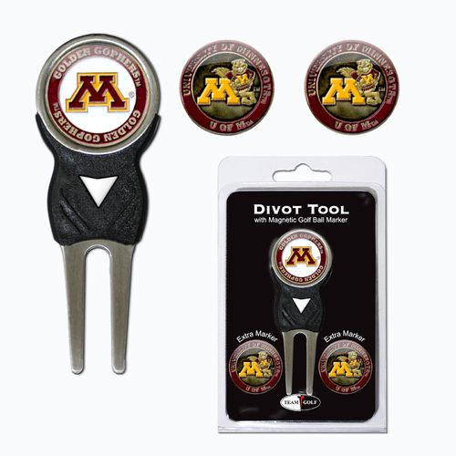 Team Golf University of Minnesota Divot Tool and Ball Marker Set