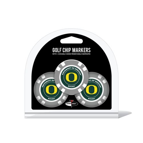 Team Golf University of Oregon Poker Chip and Golf Ball Marker Set
