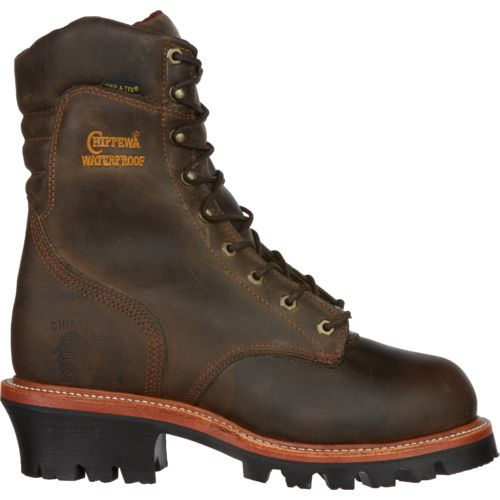 Chippewa Boots Men's Bay Apache Logger Steel Toe Rugged Outdoor Boots