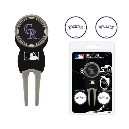 Team Golf Colorado Rockies Divot Tool and Ball Marker Set