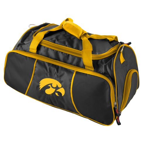 Logo University of Iowa Athletic Duffel Bag