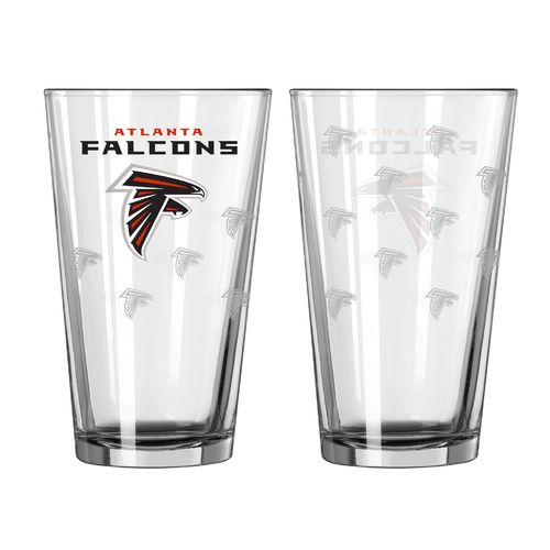 Boelter Brands Atlanta Falcons Game Day 16 oz. Pint Glasses 2-Pack
