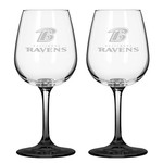 Boelter Brands Baltimore Ravens 12 oz. Wine Glasses 2-Pack