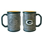 Boelter Brands Green Bay Packers Stone Wall 15 oz. Coffee Mugs 2-Pack