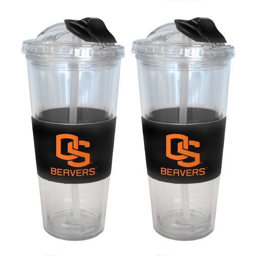 Boelter Brands Oregon State University 22 oz. No-Spill Straw Tumblers 2-Pack