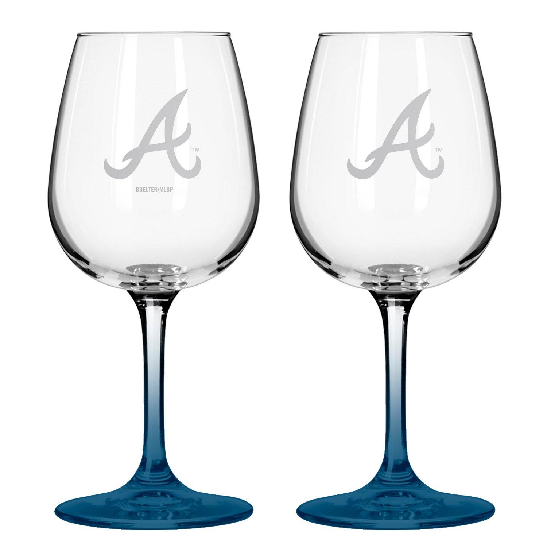 Boelter Brands Atlanta Braves 12 oz. Wine Glasses
