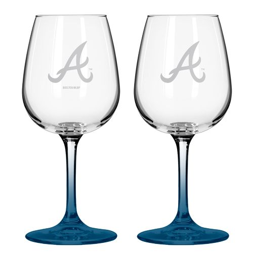 Boelter Brands Atlanta Braves 12 oz. Wine Glasses 2-Pack