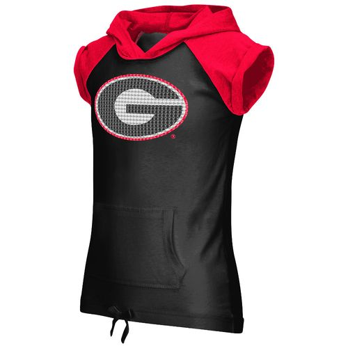 Colosseum Athletics Girls' University of Georgia Jewel Short Sleeve Hoodie