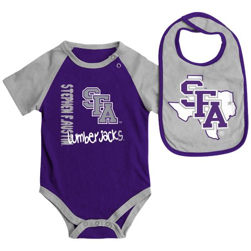 Colosseum Athletics Infants' Stephen F. Austin State University Rookie Onesie and Bib Set