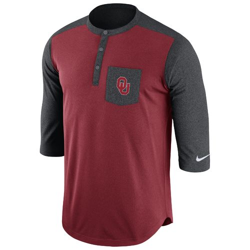 Nike Men's University of Oklahoma Dri-FIT Touch Henley