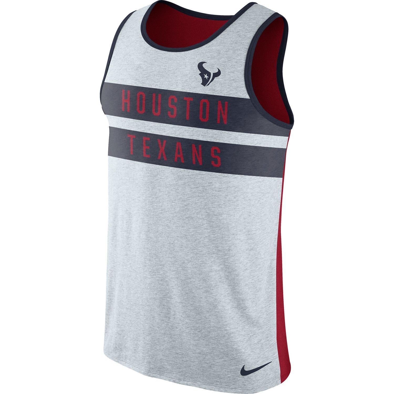 Nike Men's Houston Texans Stripe Tri Tank Top
