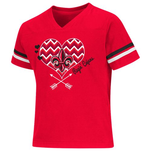 Colosseum Athletics Girls' University of Louisiana at Lafayette Football Fan T-shirt