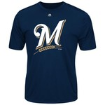 Majestic Men's Milwaukee Brewers Synthetic Official Logo T-shirt
