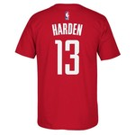 adidas™ Men's Houston Rockets James Harden #13 Game Time High Density T-shirt