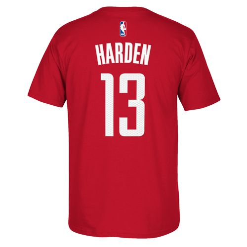 adidas Men's Houston Rockets James Harden No. 13 Game Time High Density T-shirt