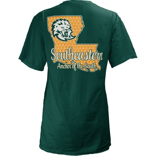 Three Squared Juniors' Southeastern Louisiana University State Monogram Anchor T-shirt