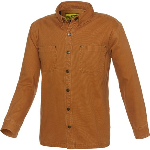 Brazos™ Men's Contractor Duck Canvas Flannel Lined Shirt Jacket