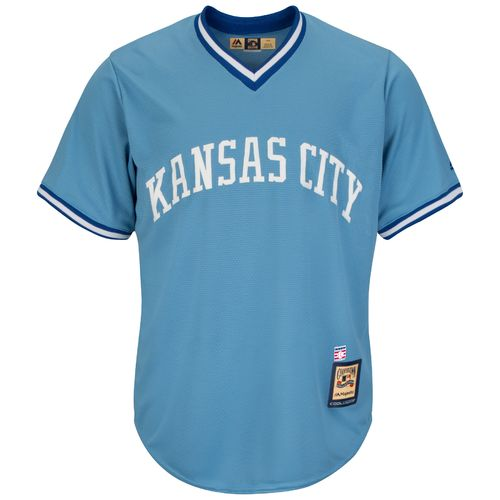 Majestic Men's Kansas City Royals George Brett #5 Cooperstown Cool Base Replica Jersey - view number 2
