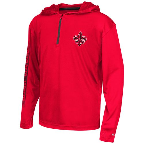 Colosseum Athletics™ Boys' University of Louisiana at Lafayette Sleet 1/4 Zip Hoodie Windsh
