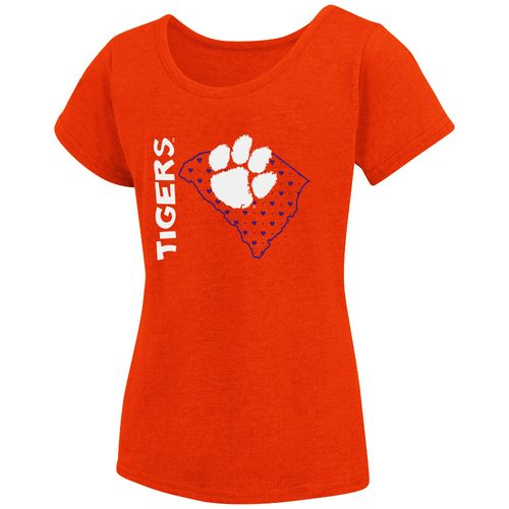 Colosseum Athletics Girls 39 Clemson University T Shirt