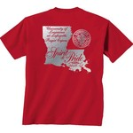 New World Graphics Women's University of Louisiana at Lafayette Silver State Distress T-shirt