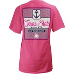Three Squared Juniors' Texas State University Knotty Tide T-shirt