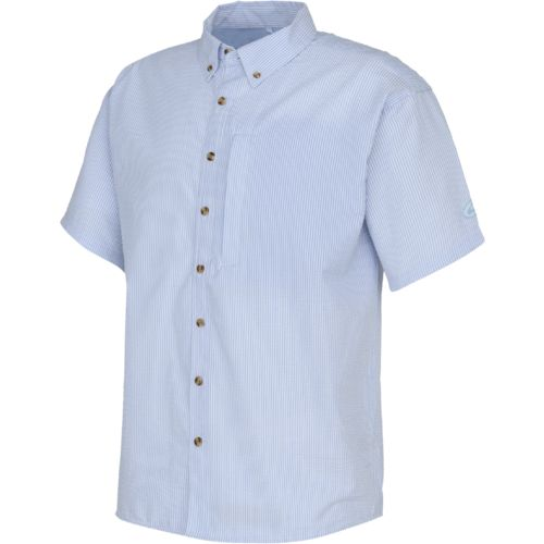 Drake Waterfowl Men's Delta Seersucker Short Sleeve Shirt - view number 1
