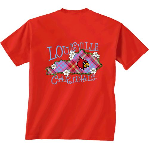New World Graphics Women's University of Louisville State Bright Plaid T-shirt