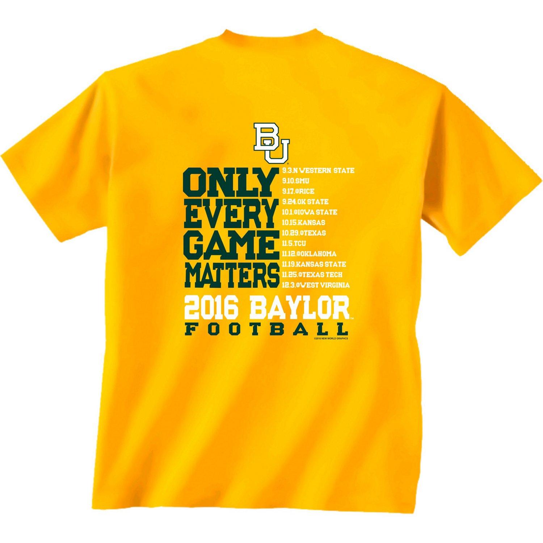 New World Graphics Men's Baylor University Schedule T-shirt