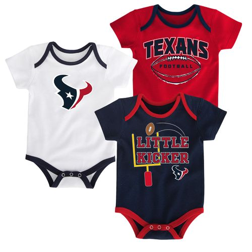 NFL Infants' Houston Texans 3 Points 3-Piece Bodysuit Set