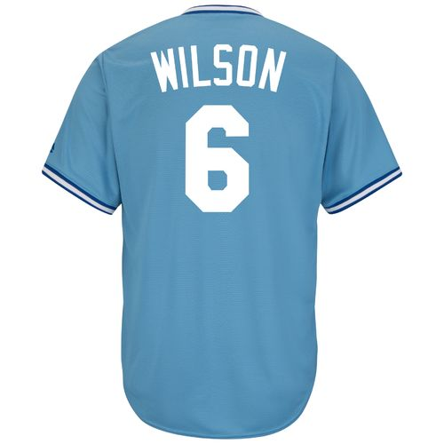 Majestic Men's Kansas City Royals Willie Wilson #6 Cool Base Cooperstown Jersey - view number 1