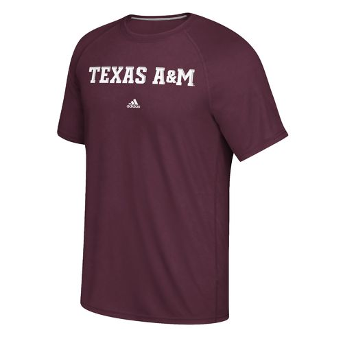 adidas Men's Texas A&M University Wordmark Ultimate T-shirt