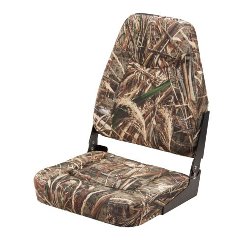 Marine Raider Camo High-Back Boat Seat - view number 1