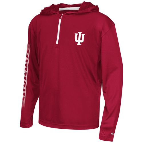 Colosseum Athletics™ Boys' Indiana University Sleet 1/4 Zip Hoodie Windshirt - view number 1