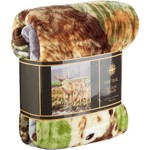 "Oak Trail 60"" x 80"" Deer Raschel Blanket"