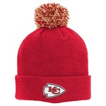 NFL Boys' Kansas City Chiefs Basic Cuff Knit Cap