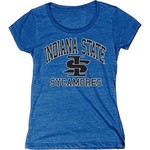 Blue 84 Juniors' Indiana State University Triblend T-shirt - view number 1