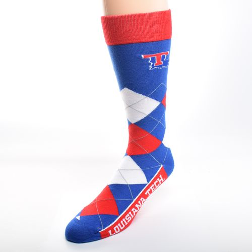 For Bare Feet Adults' Louisiana Tech University Team Pride Flag Top Dress Socks